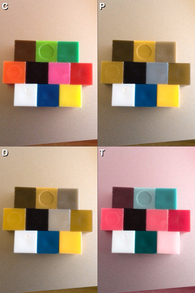 1000 plastic coloured cubes from Amazon and how they look to colourblind people. #gamedesign https://t.co/vOq38wds4M