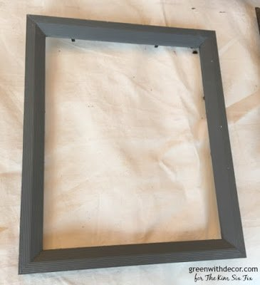 Turn an old thrift store frame into a distressed chalkboard
