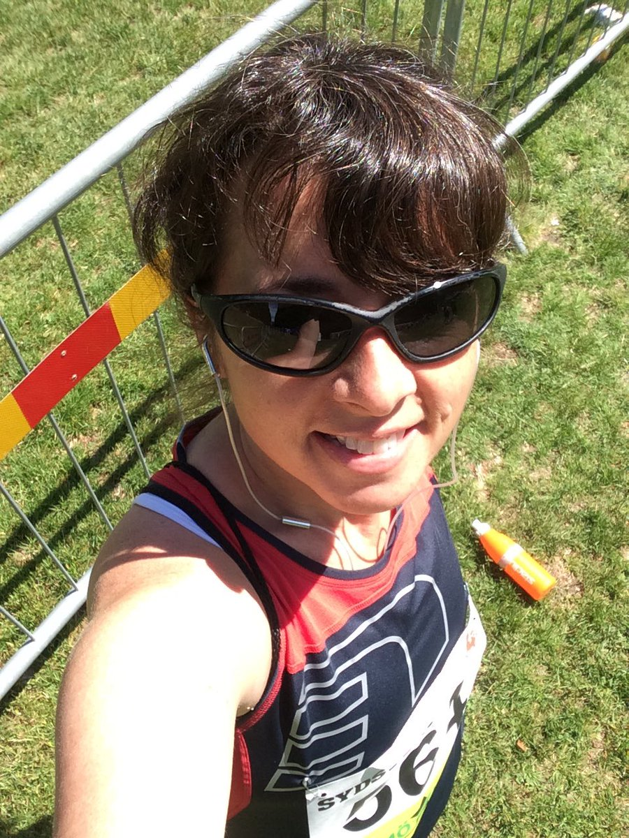 Pre-race selfie with sunglasses.
