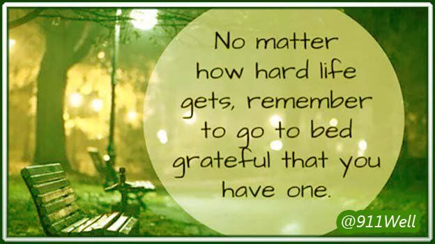 No matter how hard life is ... Be grateful .. #MindBody #Mindfulness via @911well https://t.co/DLRGv14dU2
