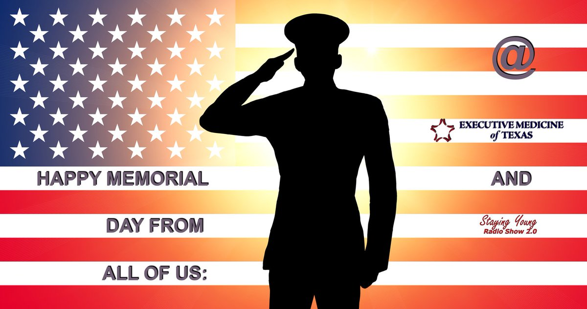Happy Memorial Day from all of us @ExecMed and @StayYoungMedia! #memorialday #veterans #men #women #freedom #America #USA #health #wellness<br>http://pic.twitter.com/IjH7rfo1wj
