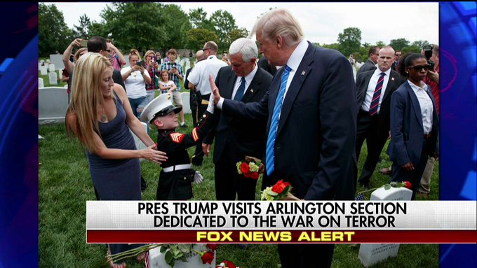 President Trump Makes Special Trip to Graves of Iraq, Afghanistan War Soldiers https://t.co/Z82MdsjwmB