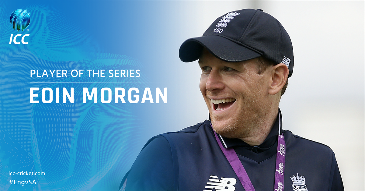 Eoin Morgan picked up the Player of the Series award for his 160 runs