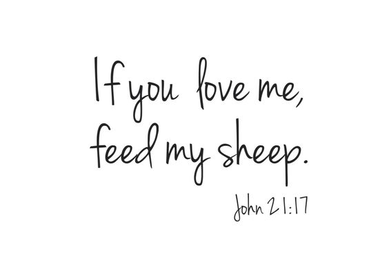 "JesusIsStrong on Twitter: ""If you love me - Feed my sheep! #John21 ..."