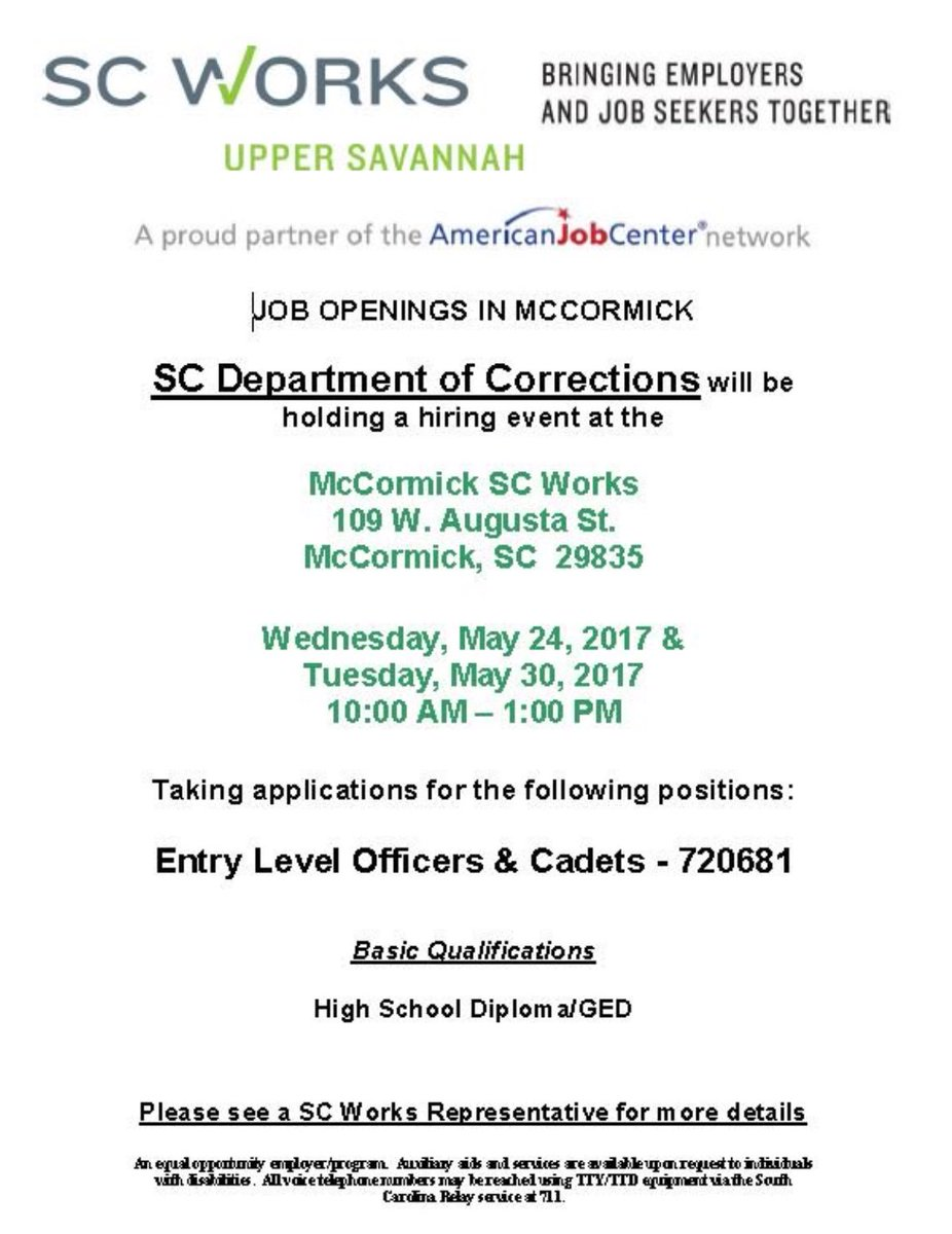 SC Dept Corrections SCDCNews – Correctional Officer Job Description