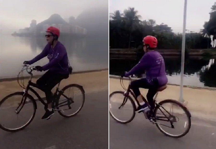 .@Ancelmocom: Em dia de nevoeiro, Dilma pedala na Lagoa, no Rio. https://t.co/ivYDpScOz6