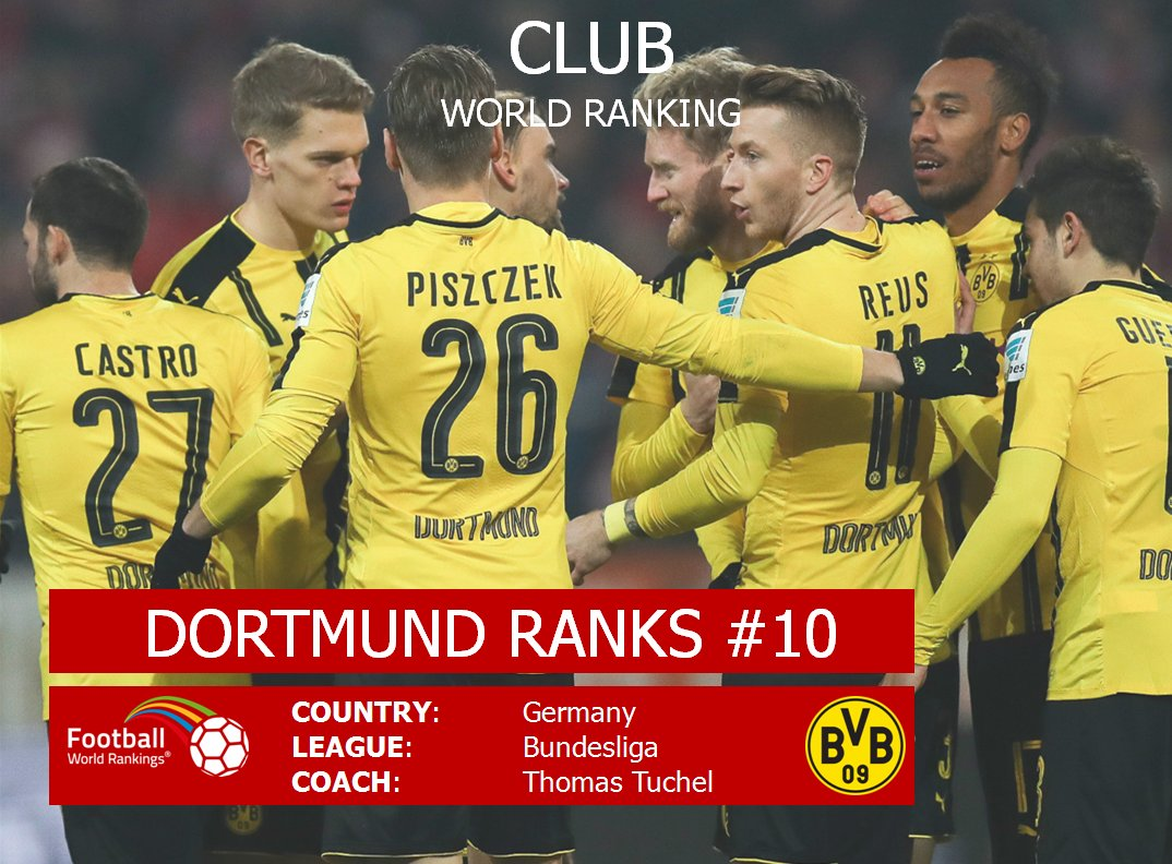 Hey @BVB!  You&#39;re back in the top 10 of the Club World Ranking! Gratuliere! #Dortmund #BVB #Pokalsieger2017 #Borussia #DFBPokal #BVB17<br>http://pic.twitter.com/SLabfH4UdZ