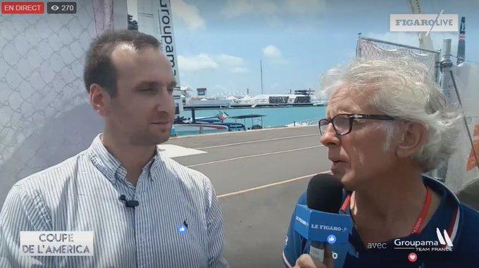 ⛵ Retrouvez en direct des Bermudes notre journaliste Guillaume Loisy en compagnie de Martin Fischer sur #FigaroLive https://t.co/CHFVt8BFY8