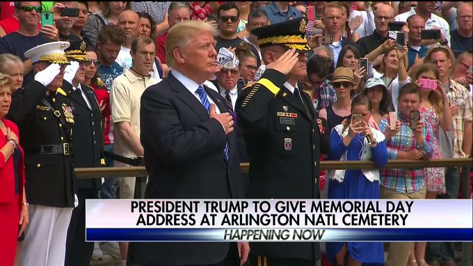 Happening Soon: @POTUS to give Memorial Day address at Arlington National Cemetery
