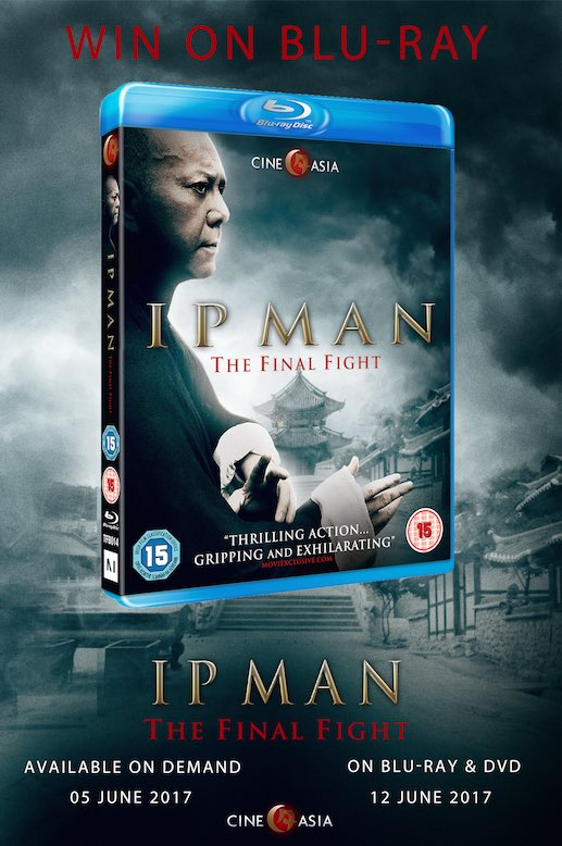 We are giving away IP Man The Final Fight on blu-ray. Just follow us &amp; RT to enter this #competition. #ipman @CineAsiaUK #win #prize<br>http://pic.twitter.com/us3QiSDVo7