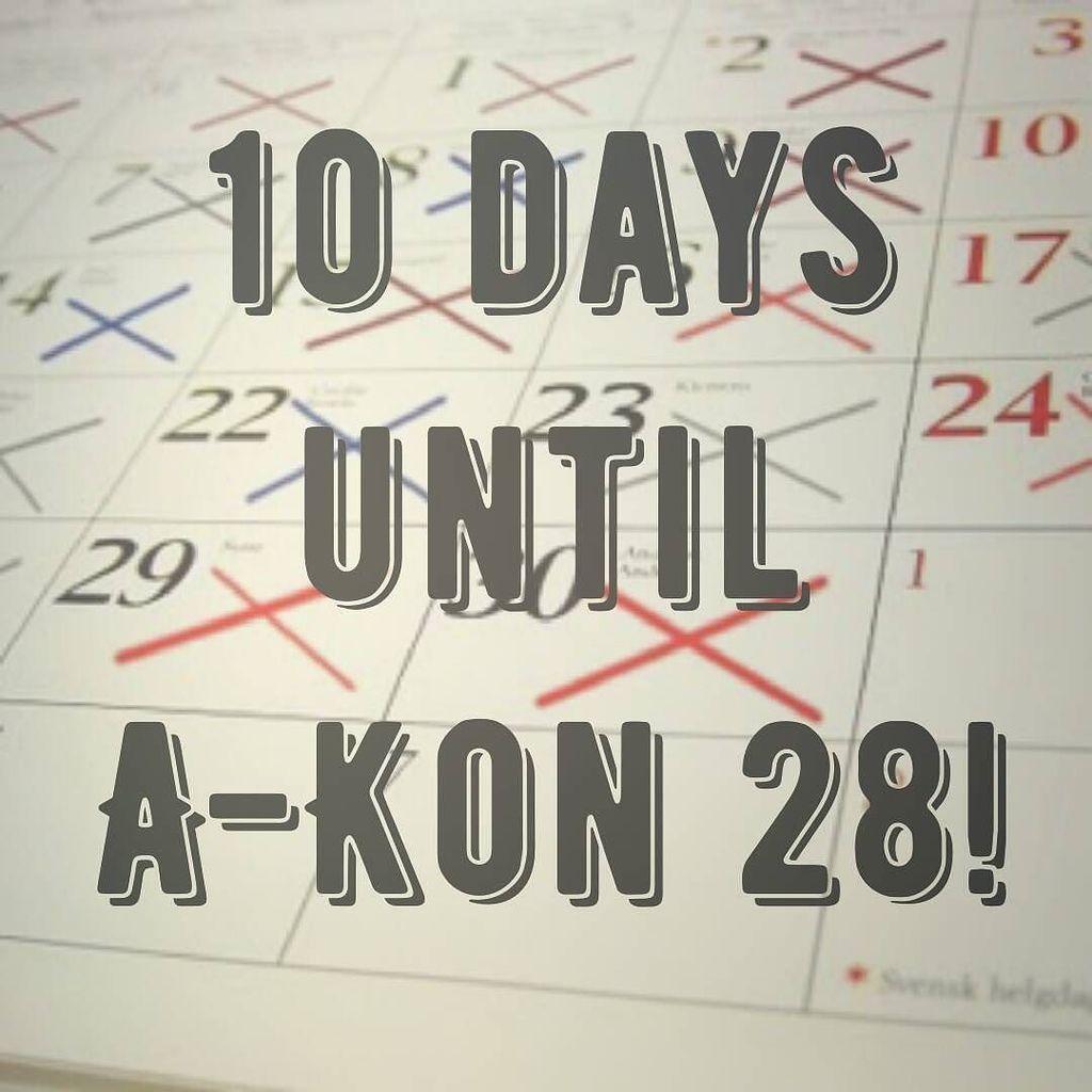 10 days until A-Kon 28!  #akon28 #cosplay #gaming #nerd #anime #AKonTakesFWCC #thefinalcountdown  http:// ift.tt/2rcU5Lb  &nbsp;  <br>http://pic.twitter.com/xy3r5VlrQq
