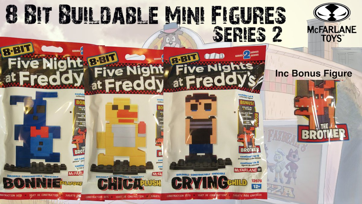 FNAF 8-Bit Figures Series 2 by @McFarlaneToys1 Five Nights at Freddy&#39;s Set Completion #FNAF #scary #gaming #pizza #bricks #creepy #fun<br>http://pic.twitter.com/BFgnXDo1Qz