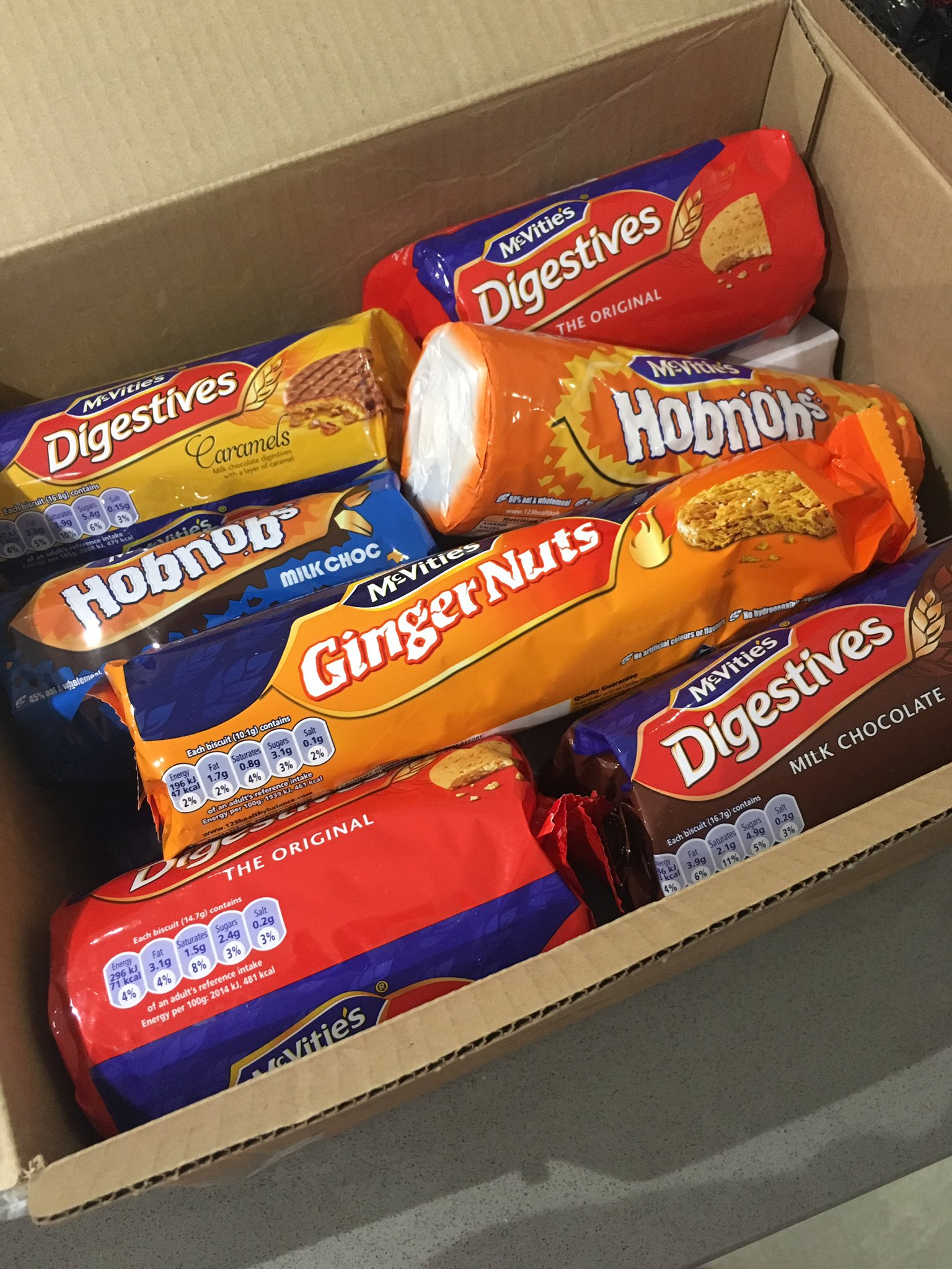 Thank you @McVities 😋 #NationalBiscuitDay #Sweeet can wait to have these with a cuppa!! https://t.co/y0FNfGEfMA