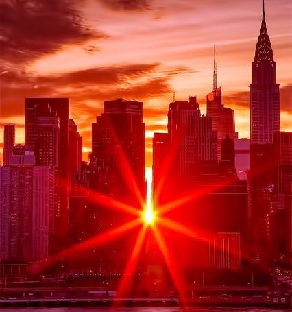 Manhattanhenge da favola Foto Video tramonto mozzafiato di New York