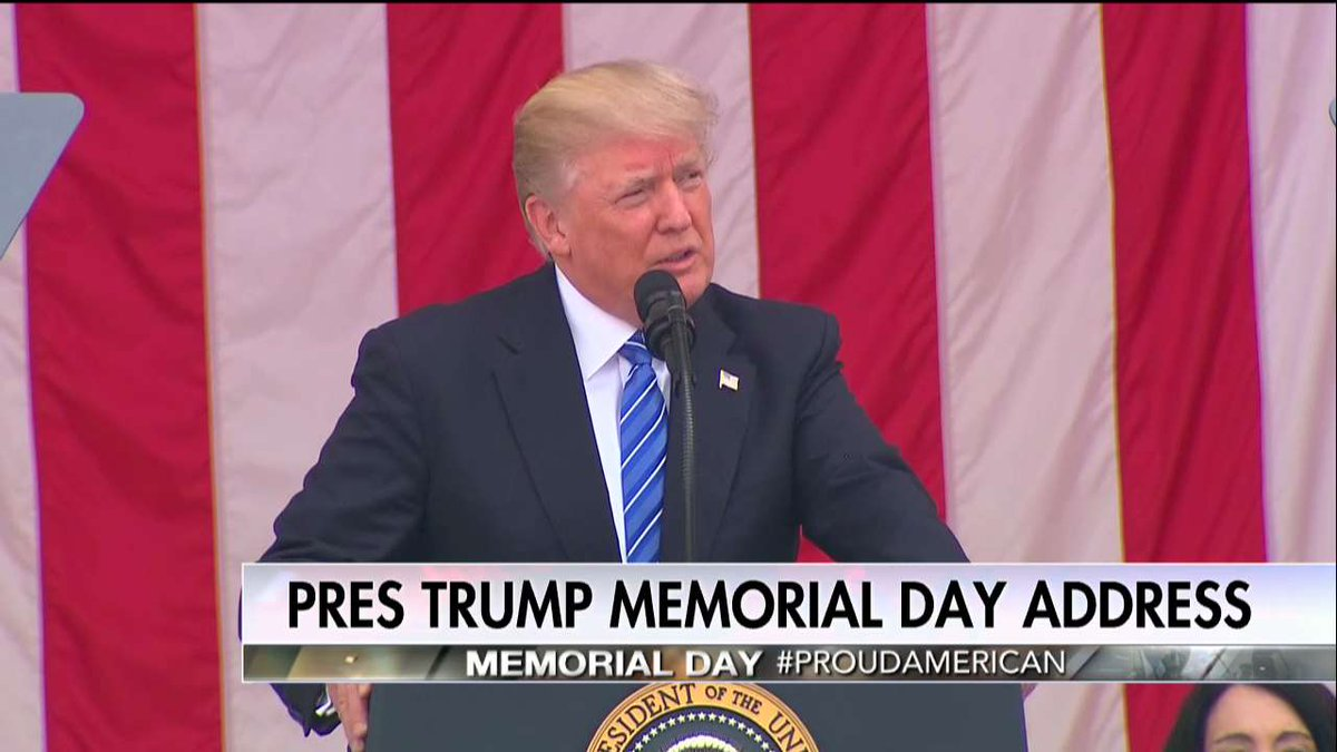 .@POTUS: 'Thank you for joining us as we honor the brave warriors who gave their lives for ours.'