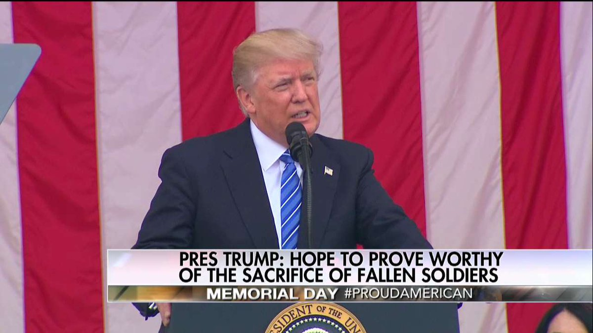 .@POTUS: 'Here at this hollowed shrine we honor the noblest among us, the men & women who paid the ultimate price for victory & for freedom'