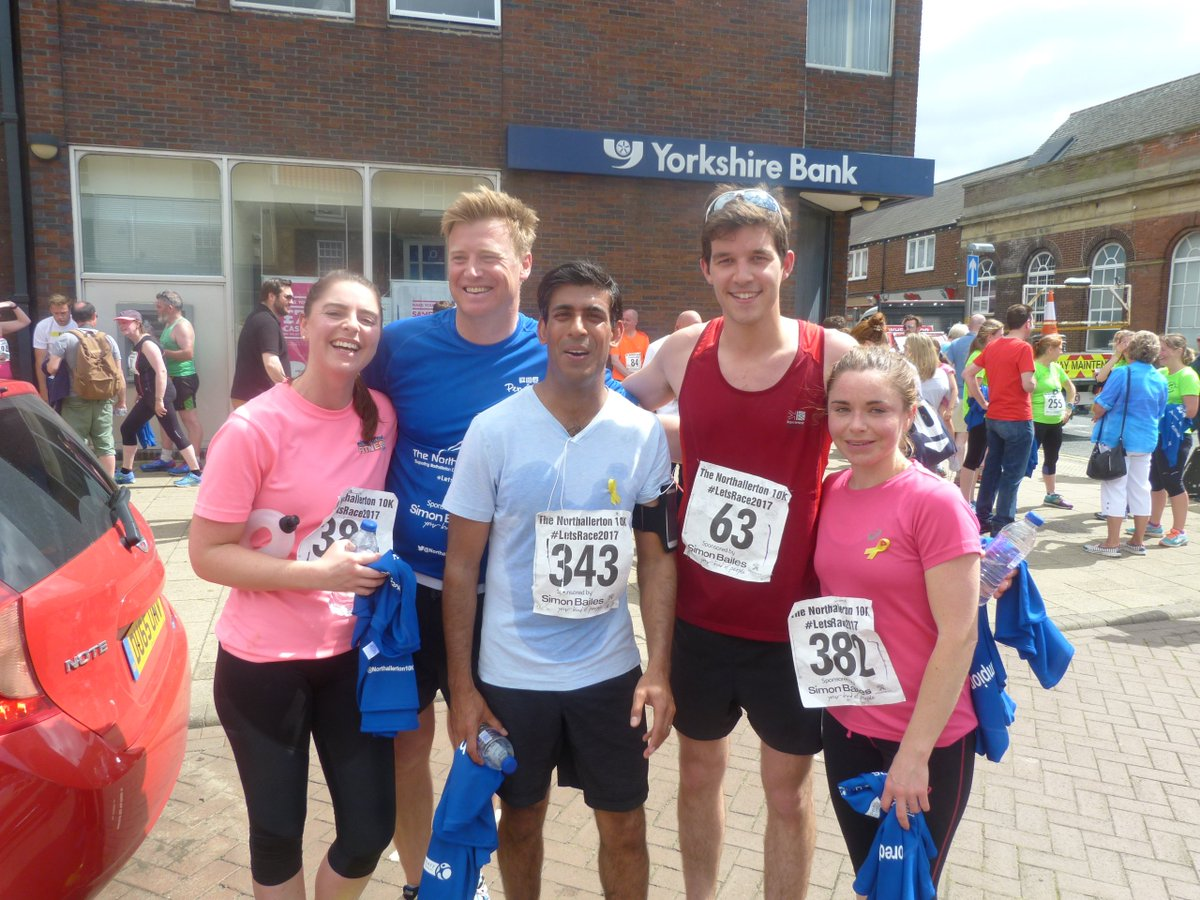 Daniel B On Twitter Great Day Running The Northallerton 10k Yesterday Despite The Hills And Heat Our Local Mp Rishi Sunak Was Out And Smashed It Https T Co 7xcszneg6s