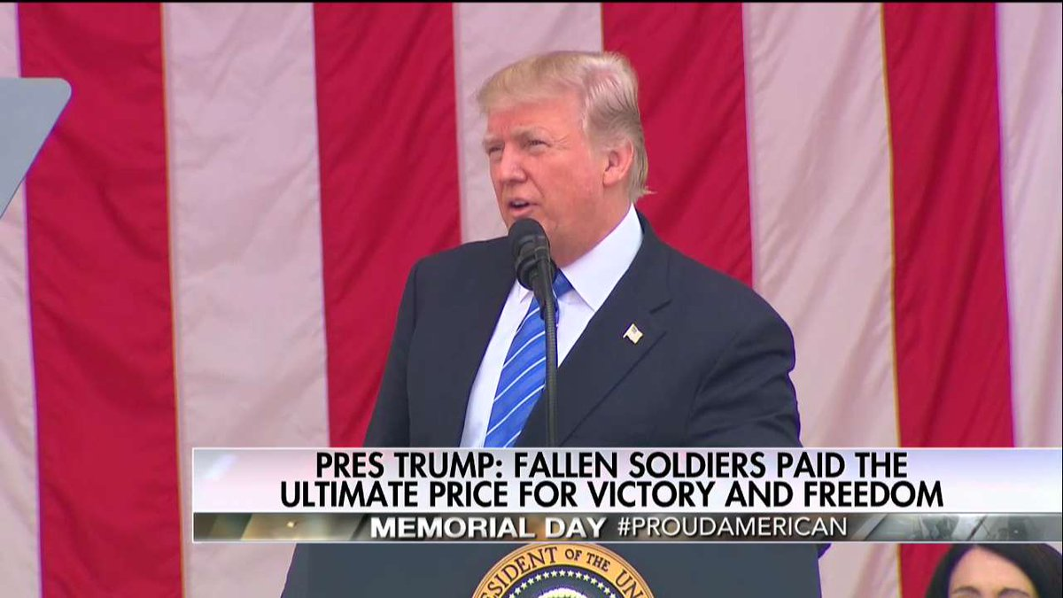 .@POTUS: 'Since the first volley of gunfire in the revolution brave Americans in every generation have answered the call of duty.'