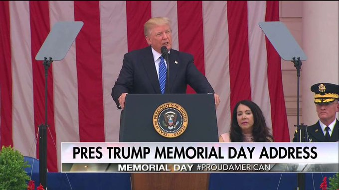 .@POTUS: 'To every Gold Star Family God is with you and your loved ones are with him. They died in war so that we could live in peace.'