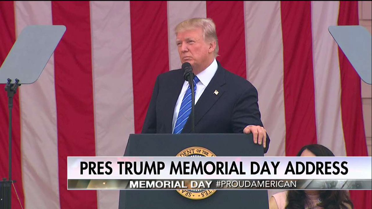 .@POTUS: 'I believe that God has a special place in Heaven for those that laid down their lives so that others may live free from fear.'
