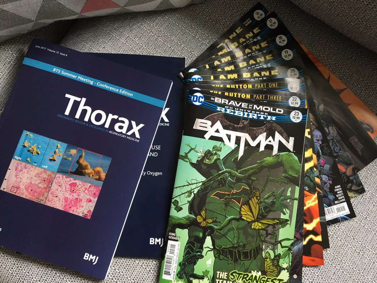 May Bank Holiday reading @ThoraxBMJ @DCComics #RespEd #Batman .Which has the highest #ImpactFactor <br>http://pic.twitter.com/SC7sDXUPb0