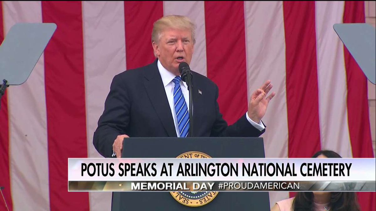 .@POTUS:  'They fought and they died there a great and noble act of loyalty and love for their families and to our country.'