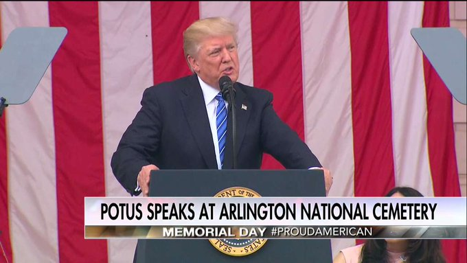 .@POTUS: 'God bless our fallen heroes, God bless their families, God bless our military and God bless the United States of America.'