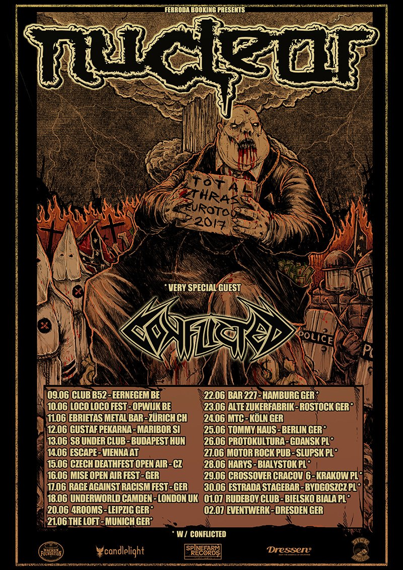 22 shows in 9 countries &quot;Total Thrash Eurotour 2017&quot; See you very soon Metalheads!!! All the infos at  http://www. nuclear.cl  &nbsp;   #Metal #Tour <br>http://pic.twitter.com/qeMeY36fX9