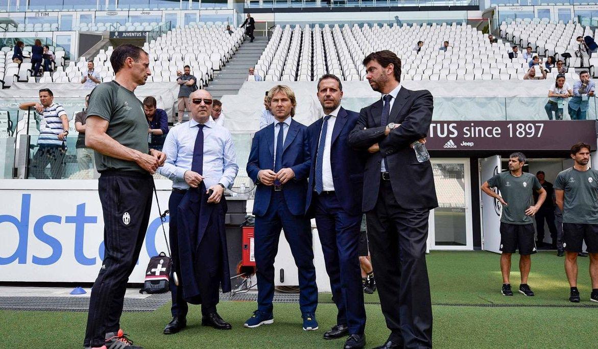 Calciomercato Juventus: Allegri, Marotta, Nedved, Paratici e Agnelli