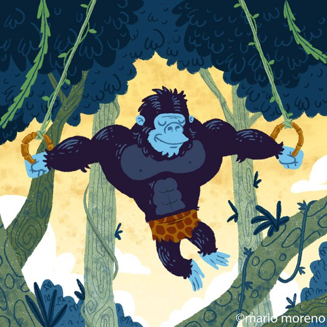 G is for Gorila! #AnimalAlphabets @AnimalAlphabets #Gorilla #Gorila #MarioMoreno #characterdesign #kidlitart #sport #sports #Sporting<br>http://pic.twitter.com/VfXYFUdWws