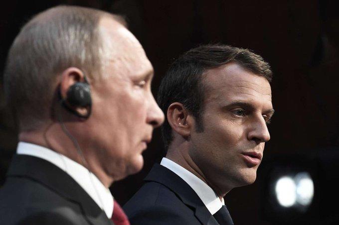 """Face à Poutine, Macron tacle Sputnik et Russia Today, """"organes de propagande mensongère"""" >> https://t.co/qFfwifFwZ2"""