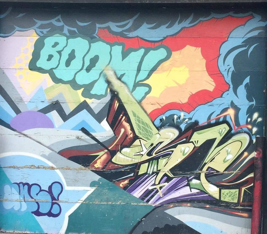 BOOM! #graffiti #streetart #julielapie  http:// ift.tt/2qzr2Qd  &nbsp;  <br>http://pic.twitter.com/3XxozAiNdu