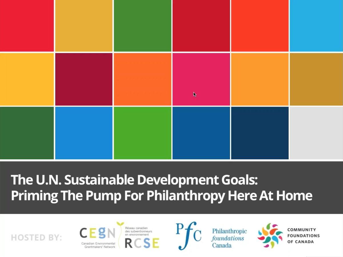 In case you missed last week&#39;s webinar: &quot;#SDGs: Priming the Pump for #Philanthropy Here at Home&quot;, here is the link:  https:// vimeo.com/218674282  &nbsp;  <br>http://pic.twitter.com/ykKSjMo0Po