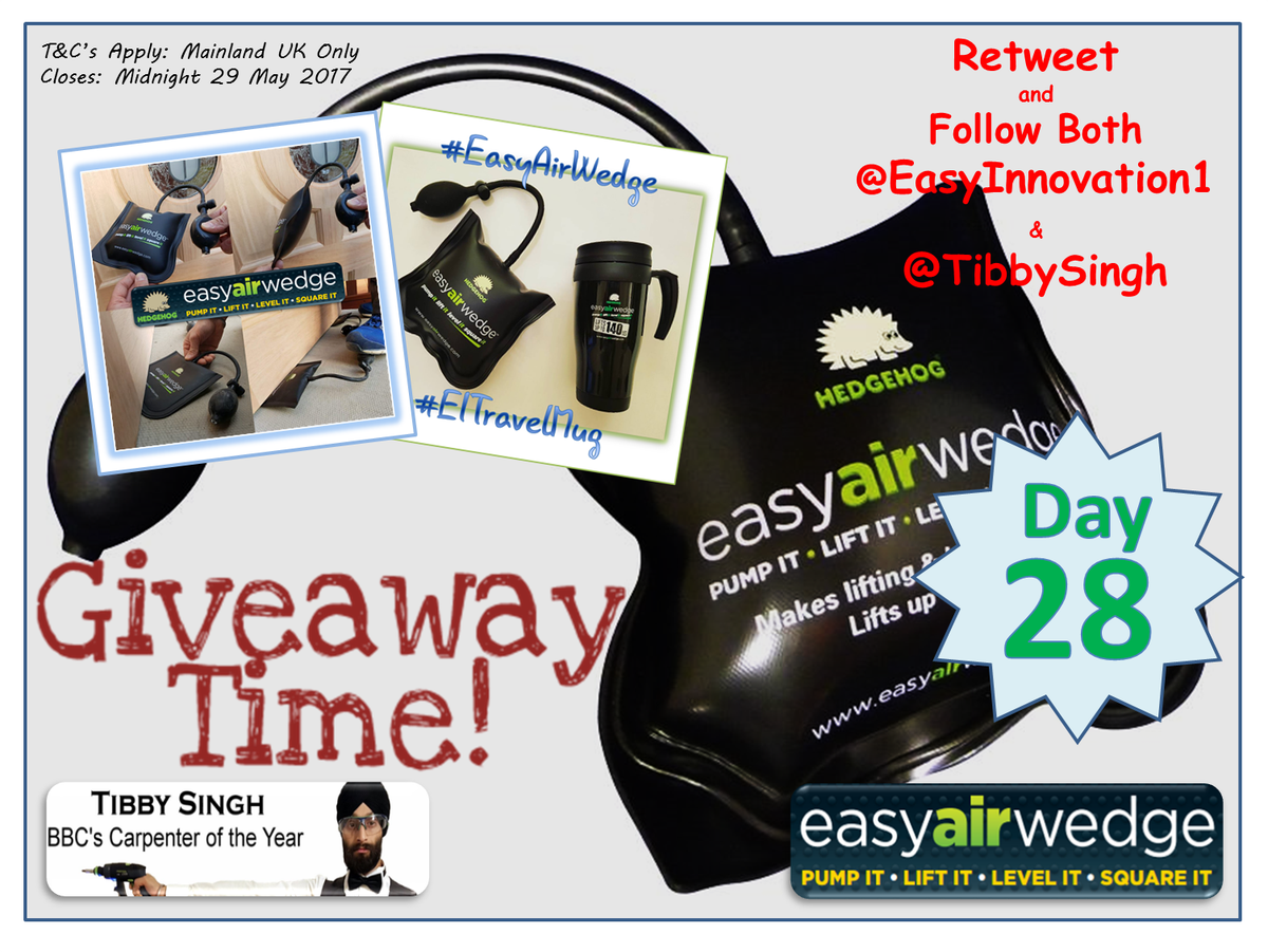 #RT &amp; Flw Us &amp; @TibbySingh for YOUR chance to #WIN a Hedgehog #EasyAirWedge or #EITravelMug. Closes at midnight 29/5. #Giveaway #competition <br>http://pic.twitter.com/pkOvRrVgTq