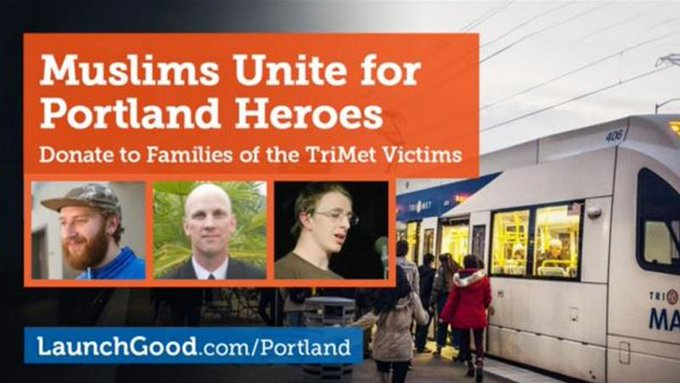 People have raised nearly $1 million for the victims of the Portland stabbing and their families.