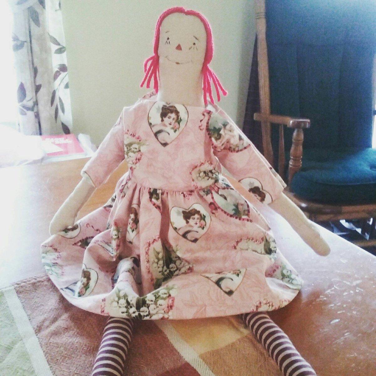 Raggedy Franny Doll, Easter gift, Vintage Valentine&#39;s Fabric, Hand…  http:// tuppu.net/565986ba  &nbsp;   #EpicOnEtsy #RaggedyDoll<br>http://pic.twitter.com/twgLW5GwpJ