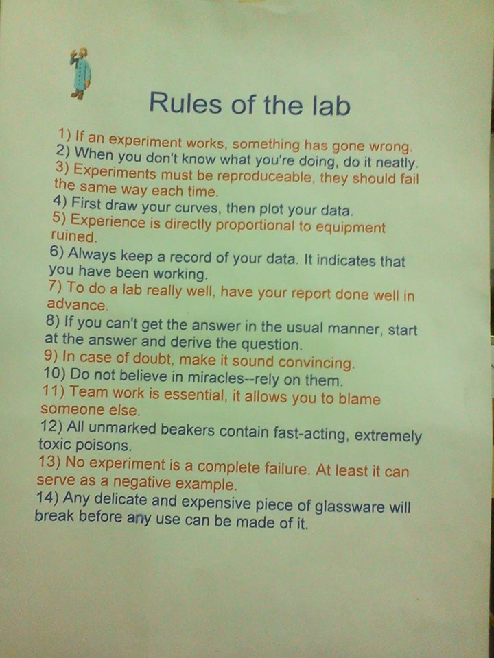 The rules of the lab!  #research #Laboratory<br>http://pic.twitter.com/DvjrbIIUWA