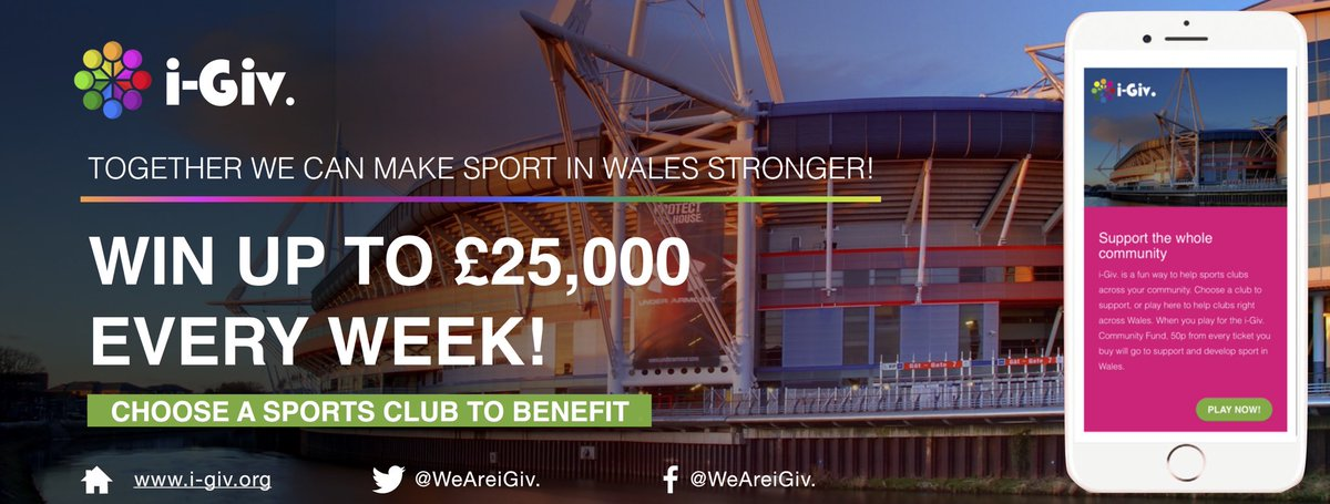 Our community grassroots sports clubs needs your help, play for just £1 and win up to £25k every week. #i-Giv. #Support #Local #Sport <br>http://pic.twitter.com/nZtSU4I7ai