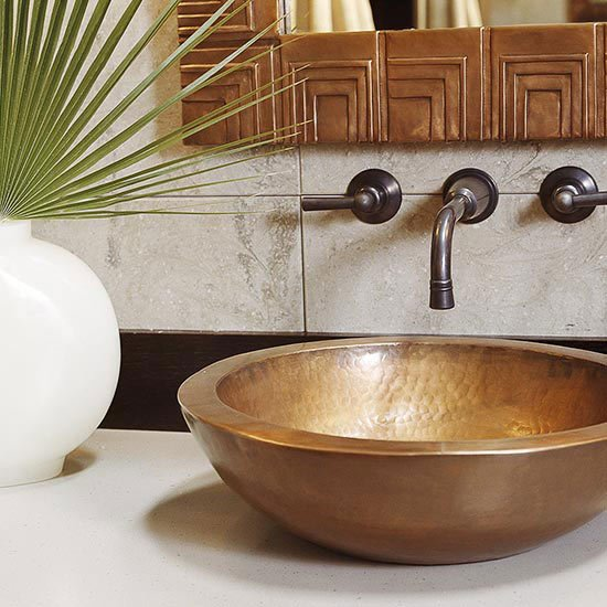 This #copper sink can create a focal point on the bathroom vanity. #bathroomdesign   http:// cpix.me/a/24983233  &nbsp;  <br>http://pic.twitter.com/kQs6ONBBQo