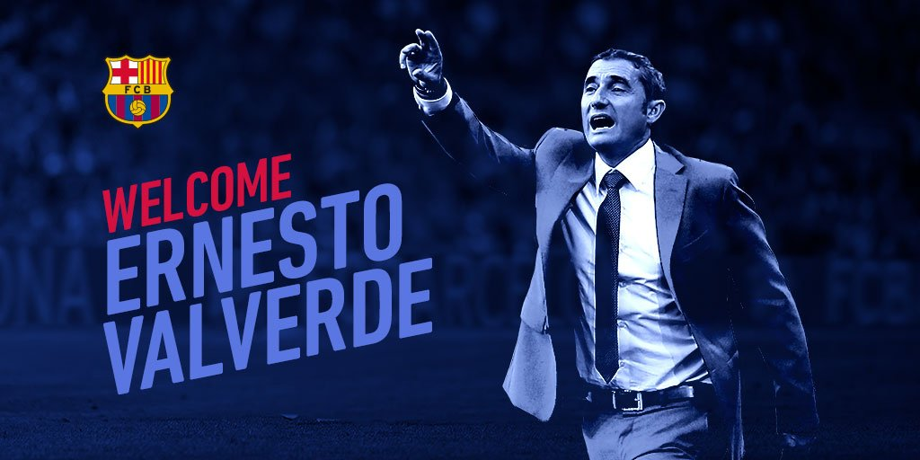Ernesto Valverde is the new @FCBarcelona coach. Welcome, Ernesto! #HolaValverde