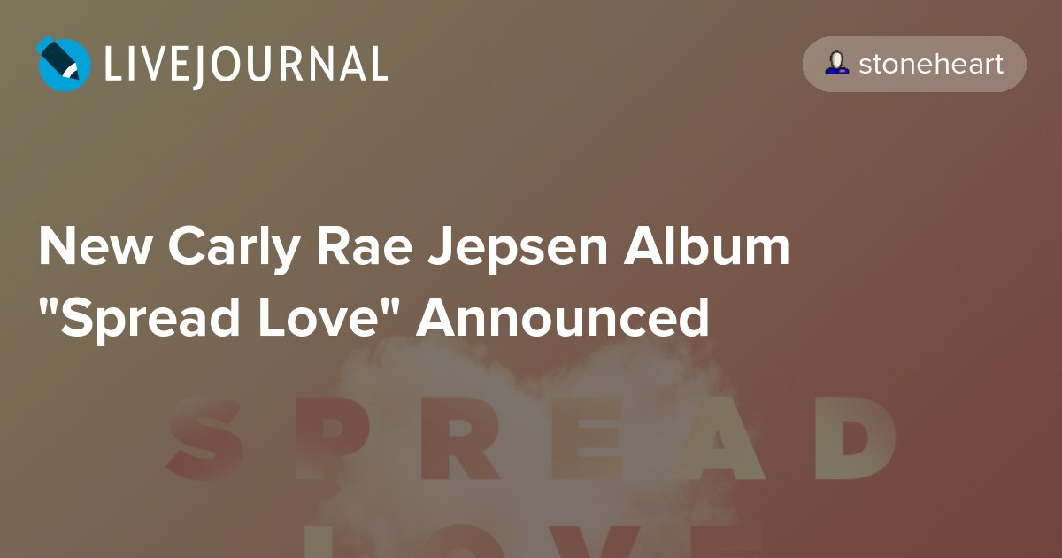 "New Carly Rae Jepsen Album ""Spread Love"" Announced https://t.co/u5RUjXSr7S #carlyraejepsen #newmusicpost https://t.co/MRgm6zY9Qj"