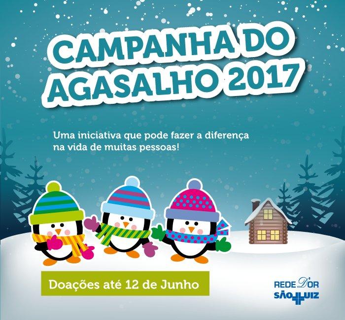 Unidades hospitalares da Rede D'Or São Luiz no RJ realizam até 12 de junho a tradicional Campanha do Agasalho: https://t.co/aitX8WYSzY