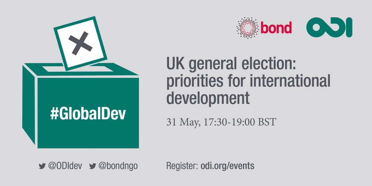 Sign up for our #GE2017  event 31 May w. @bondngo to hear main parliamentary parties debate their plans on #GlobalDev  https:// goo.gl/5Lf6bG  &nbsp;  <br>http://pic.twitter.com/rMBnTyLTMu