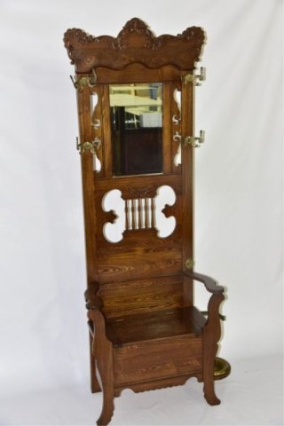 #Online #Auction - Ash Hall Stand - good finish, with lift lid seat, ca 1900, 30 wide x 82 inches high ...  http:// ow.ly/CKYw30c8wjI  &nbsp;  <br>http://pic.twitter.com/L9vxIvunCM