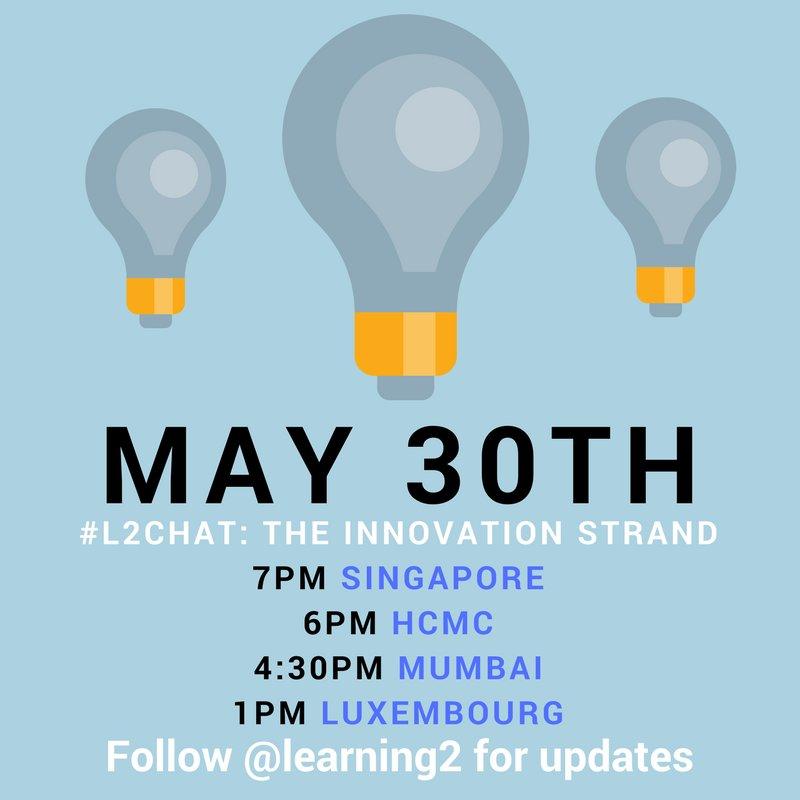 Ready to go? 2 hours till #L2chat with @sherrattsam +@lori_uemura q's here https://t.co/V6RDjs1iGW https://t.co/wX2zIjzt7E