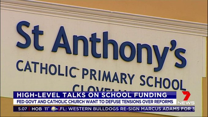 Federal Government and Catholic schools involved in high level talks on school funding. #auspol #7News