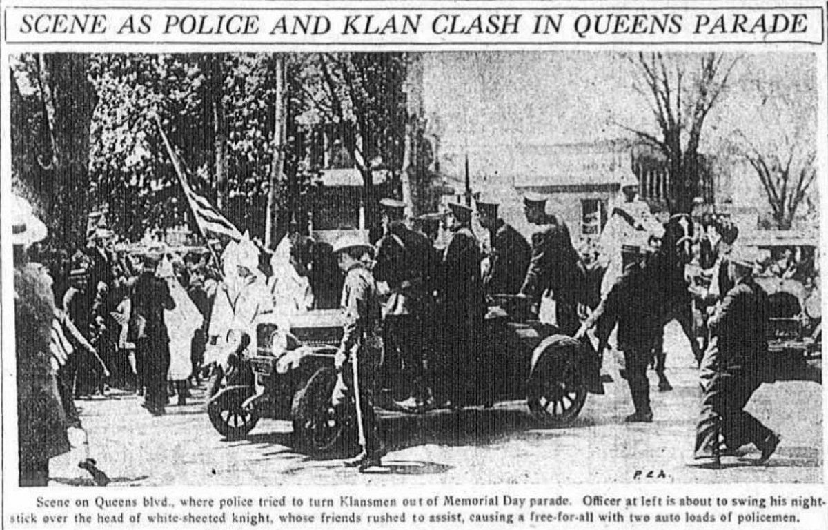 90 years ago today, President Trump's father was arrested at a KKK rally in Queens. https://t.co/Ig74bykm7f