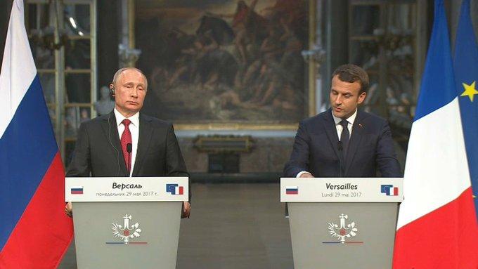 VIDEO - Ce qu'il faut retenir de la rencontre entre Macron et Poutine https://t.co/rqAHM7GLGE