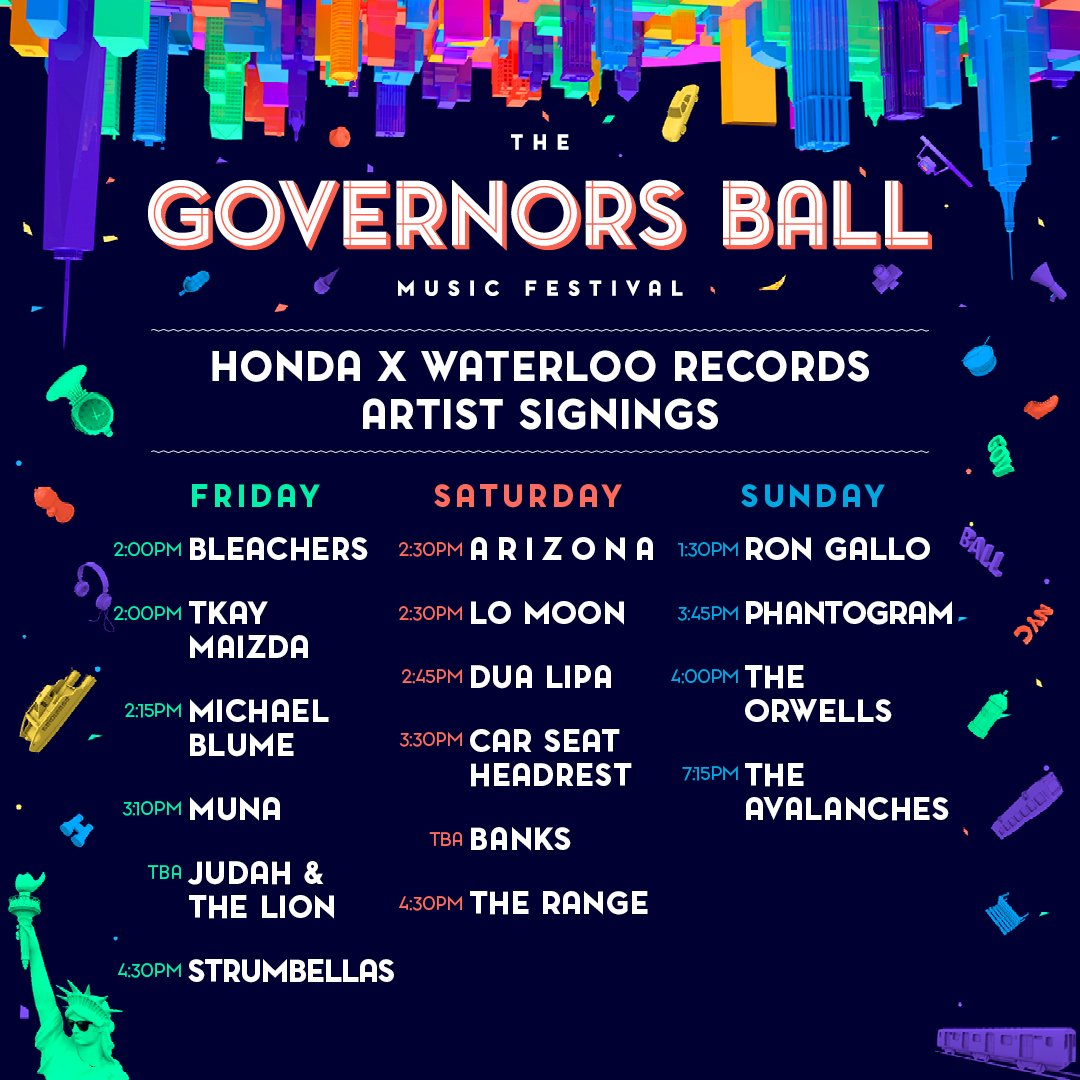 Gov Ball 2017 Artist Signings