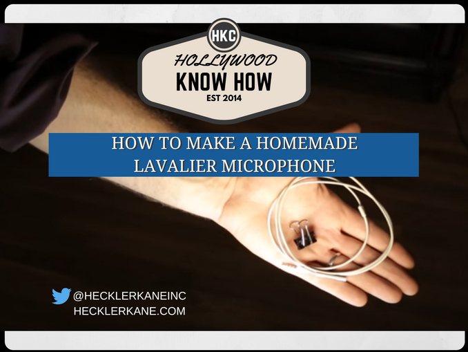 How to Make a Homemade Lavalier Microphone for No Money